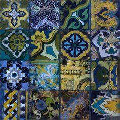 Cobalt Mosaic II Print van John Douglas bij AllPosters.nl