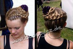Haarkranz mit Blume  Coronet Braid   www.Boostylez.de