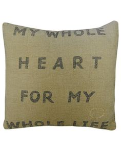 "(Future Master Bedroom sitting area)  SugarBoo Designs ""My Whole Heart"" Decorative Pillow$120.00  $79.90"