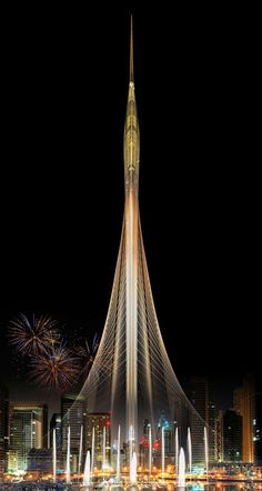 Image 1 of 1 from gallery of Santiago Calatrava Wins Competition to Design Landmark Observation Tower in Dubai. Photograph by Santiago Calatrava Santiago Calatrava, Dubai Tower, Dubai Skyscraper, Unique Buildings, Amazing Buildings, Office Buildings, Dubai Buildings, Futuristic Architecture, Beautiful Architecture