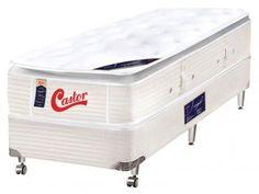 Cama Box Castor Solteiro Mola Pocket 88x188cm - Castor Vitagel Euro