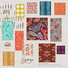 Anna Maria Horner, Field Study, Gypsy in FAT QUARTERS 12 Total