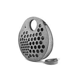 #grey round #bag circle bag felt bag spacious bag by FeltLabel, $55.00