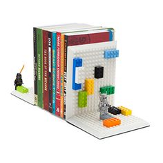 Build On Brick Bookends | ThinkGeek