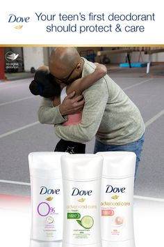 Make your daughter's first deodorant a caring one. Dove Deodorant has effective odor protection and ¼ moisturizers for smoother, softer skin. That's care you can count on. Dove Antiperspirant, Dove Deodorant, Dove Soap, Dove Men Care, Body Odor, Skin So Soft, Sensitive Skin, Daughter, Teen
