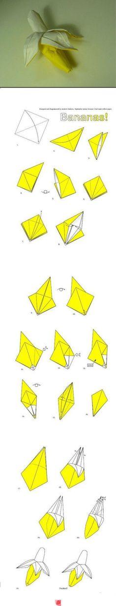 how to make a origami banana