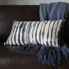 Cute printed pillow cover for Ballard.  Blurry Stripe Pillow Cover #WestElm