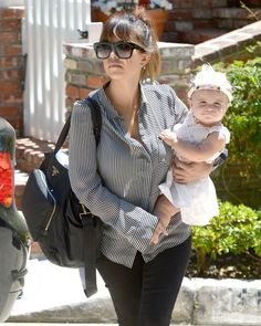 Kourtney Kardashian and her baby girl Penelope Disick