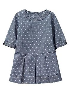Dot pleated dress - Gap -- Should be easy to create pattern & make! - use Family Reunion dress for pattern