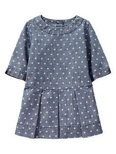 Dot pleated dress