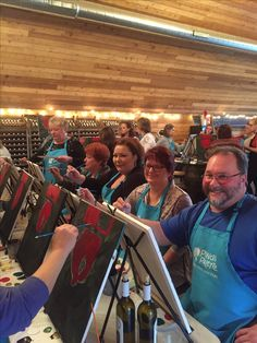 Having fun at the winery at #Olathe #PaintOlathe #Painting #mobile