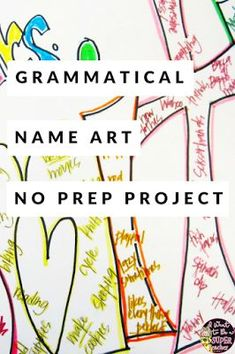 "A NO PREP art/language activity teachers can use any time during the year. All you need is paper! Use this project to transition back after winter or spring break. This activity can also work as a back to school ""get to know you"" project or a fun way to review parts of speech. Use this fun kid friendly project in 2nd, 3rd, 4th, and even 5th grade! #education #grammar #projectsforkids #elementaryeducation #secondgrade #thirdgrade #fourthgrade #fifthgrade #teach #teachers"