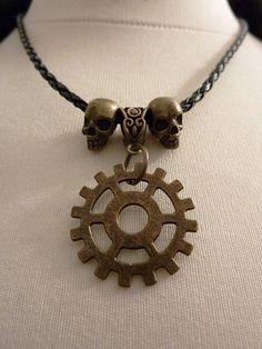 Commander Lexa Headpiece, grounders, The 100, skull necklace