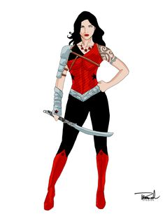Donna Troy Redesigned wonder woman kinda but not really she is a an individual or individuals :)