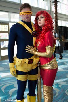 #Cosplay #Mutants: Jean Grey aka Dark #Phoenix & #Cyclops - Long Beach Comic Con 2012