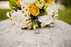 Beautiful, unique rings for this ring shot at sunset. Yellow Bouquets, Ring Shots, Yellow Wedding, Rose Design, Commercial Photography, Rose Bouquet, Yellow Roses, Unique Rings, Weddingideas