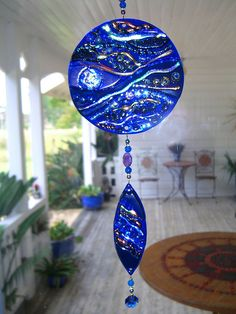 Fused Glass Suncatchers | Lampworked dichroic fused glass suncatcher | Flickr - Photo Sharing!