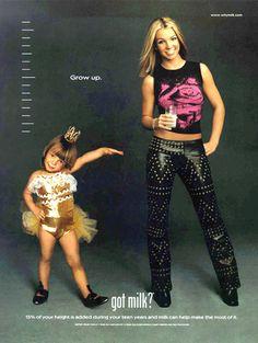 Got Milk?, milk, ads, advertisements, 1990s, 90s, Britney Spears