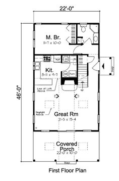 14x28 Tiny House -- #14X28H1F -- 521 sq ft - Excellent Floor Plans ...