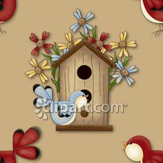 Clipart.com Closeup | Royalty-Free Image of animal,animals,backdrop,backdrops,background,backgrounds,bird,birdhouse,birdhouses,birds,bloom,blooms,blossom,blossoms,blue,bluebird,bluebirds,building,buildings,country,daisies,daisy,feather,feathered,feathers,flower,flowers,home,homes,house,houses,nest,nesting,nests,song,songbird,songbirds,summer,summertime,sweet,tree,trunk,trunks,wallpaper,wallpapers,wing,winged,wings