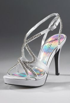 Shoes - High Heel Rhinestone Platform Sandal from Camille La Vie and Group USA prom