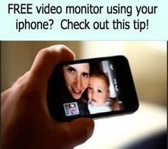iphone as baby monitor for free!