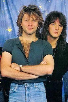 Jon Bon Jovi & Richie Sambora 1993. Credit to @love-music-fashion-flawless, Tumblr.