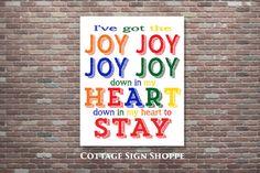 I've Got The Joy Down In My Heart Sunday by CottageArtShoppe