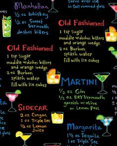 Benartex Alcoholic Drink Recipes Black Margarita Great Apron Fabric Material