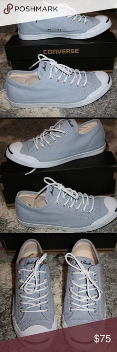 Jack Purcell Low Profile Laceup Sneaker Blue granite/white/navy - like new/gently worn Converse Shoes Sneakers
