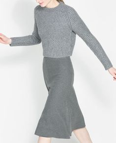 ZARA - WOMAN - COWL NECK RIB-KNIT SWEATER