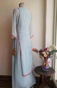 Powder Blue Embroidered Dress by Label Kanupriya Kurti Designs Party Wear, Kurta Designs, Dress Indian Style, Indian Dresses, Indian Wear, Pakistani Outfits, Indian Outfits, Indian Designer Outfits, Designer Dresses