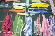 If you scrapbook or make cards, you probably end up with a lot of small strips of paper... here's how you can use them!