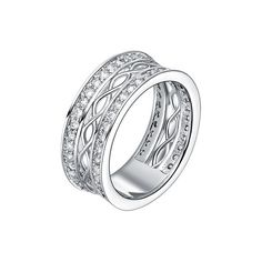 Styling Concept Art J385 18k White Gold Plated Cocktail Ring ❤ liked on Polyvore featuring jewelry, rings, gold plated jewelry, 18 karat gold jewelry, statement rings, white gold plated jewelry and 18k gold plated jewelry