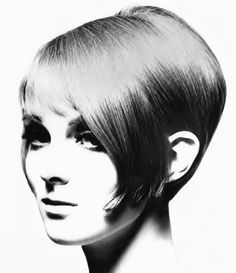 """Grace Coddington with iconic short Vidal Sassoon bob cut made famous by him in the 1960s    """"If you get hold of a head of hair on somebody you've never seen before, cut beautiful shapes, cut beautiful architectural angles and she walks out looking so different - I think that's masterful."""" Vidal Sassoon"""