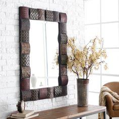 Ganya Embossed Sheet Metal Frame Vanity Mirror - 30W x 40H in. $279.40