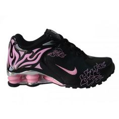 Nike Shox R4 Torch womens shoes black pink purple silver