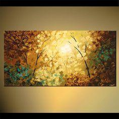 Textura flor bosque pintura Original abstractos por OsnatFineArt
