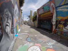 Street Art in Clarion Alley San Francisco. Taken with my Gopro.