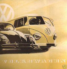 Barndoor carte postale VW