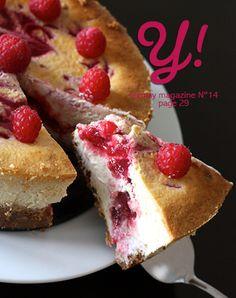 #FRAMBOISE Cheesecake aux framboises & chocolat blanc par Lucie - Cuisine en Scène Yummy Magazine N°14 pg 29