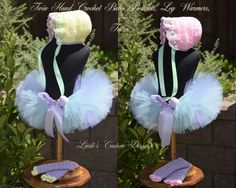 Twin Baby Girl Hand Crochet #Bonnets, Leg Warmers, & Sweetheart #Tulle #Tutus for,  View more on the LINK: http://www.zeppy.io/product/gb/3/159587808/