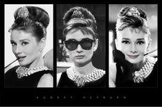Audrey Hepburn Breakfast at Tiffany's Triptych Movie Poster Print 36 by 24 Inch | eBay