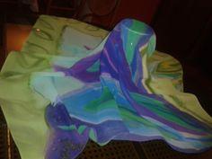 Ručno oslikana marama - žoržet