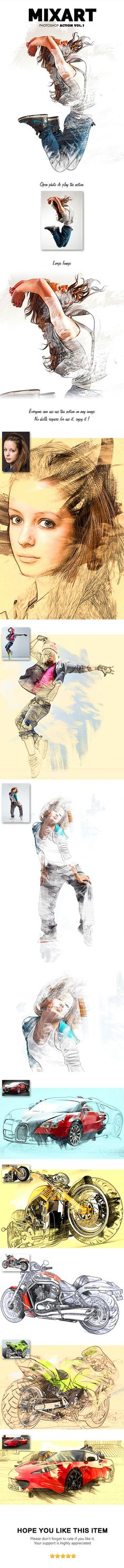 MixArt Photoshop Action Vol.1 - Photo Effects Actions