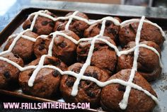 Frills in the Hills: Sunday Baking Project: Mocha hot cross buns