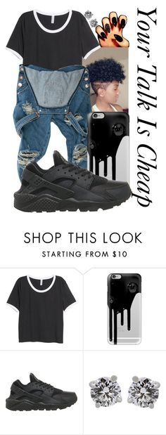 """Cheap--"" by be-you-tiful-flower ❤ liked on Polyvore featuring H&M, Casetify, NIKE and Tiffany & Co."