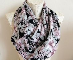 ON SALE  Floral Scarf Summer Scarf Shawl  Rose Mint by HeraScarf, $14.90