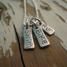 reserved triathlon necklace by cnkdesigns on Etsy