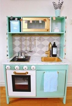 Link is not useful but this is a cool ikea kids kitchen hack
